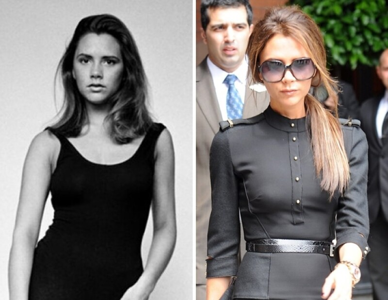 Victoria Beckham no ha cambiado casi nada desde los 17 años.