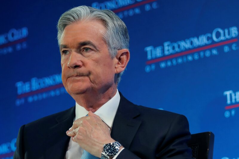 U.S. Federal Reserve Board Chairman Powell attends a discussion in Washington