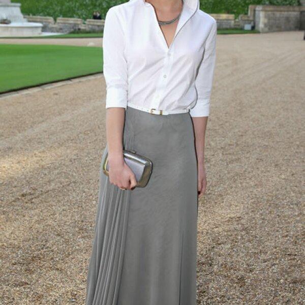 En el Palacio de Windsor durante la cena ofrecida por el príncipe William de Inglaterra.