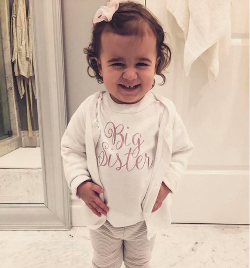Alena Rose se convertirá pronto en la hermana mayor.