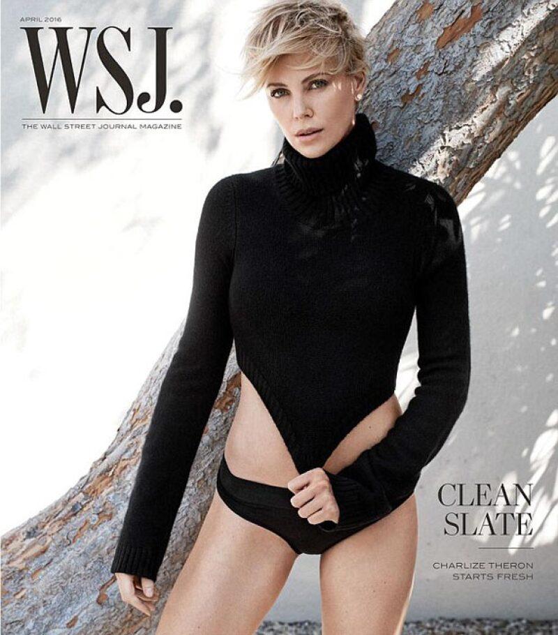 Charlize finalmente habló sobre su ruptura con Sean Penn en entrevista para WSJ Magazine.