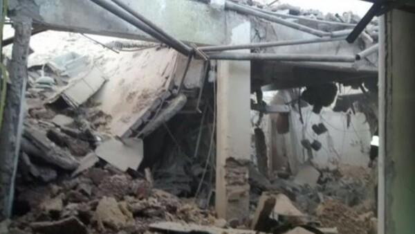 La explosión derrumbó un tercio del hospital.