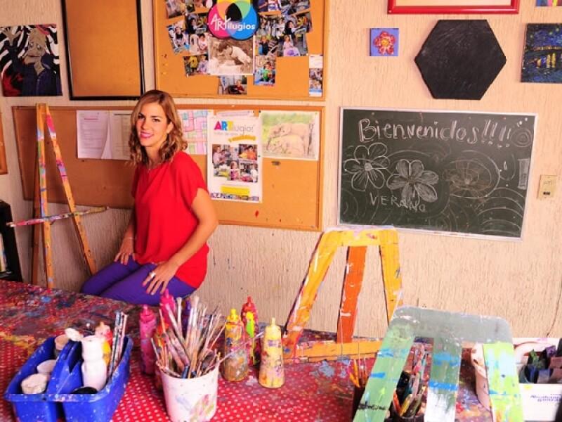 Sofía Martínez Negrete en su taller `Artilugios´.Â