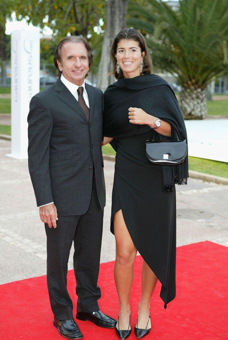 Emerson al lado de su esposa Rossana Fannuchi
