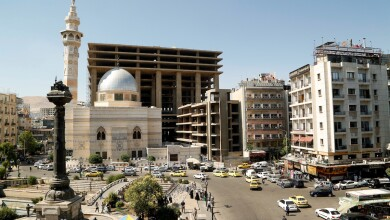 FILE PHOTO: A general view of the Marjeh Square in Damascus