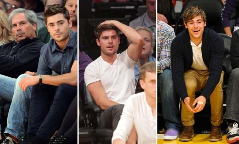 Ashton Kutcher, David Beckham, Zac Efron y Tony Parker compartieron el Staples Center de Los Ángeles donde junto a miles de personas, vivieron una tarde de partido como cualquier otro mortal.