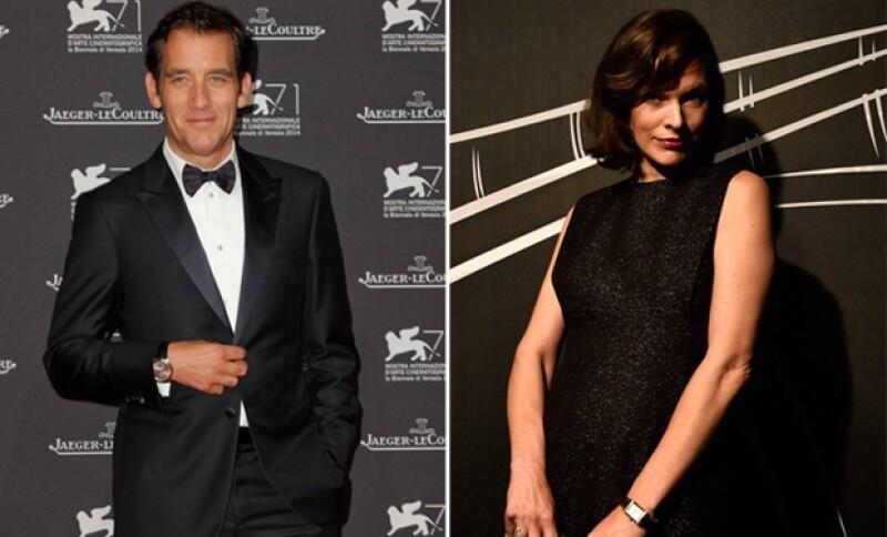 """Jaeger-LeCoultre ofreció una gala en honor del arte veneciano y entregó el premio """"Glory to the Filmmaker"""" al actor. En la cena figuraron Clive Owen y Mila Jovovich."""