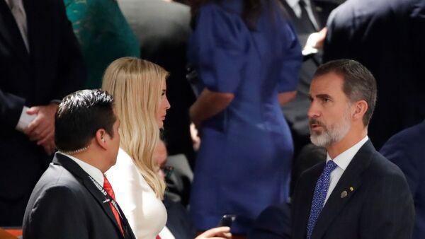 Ivanka con rey Felipe de España