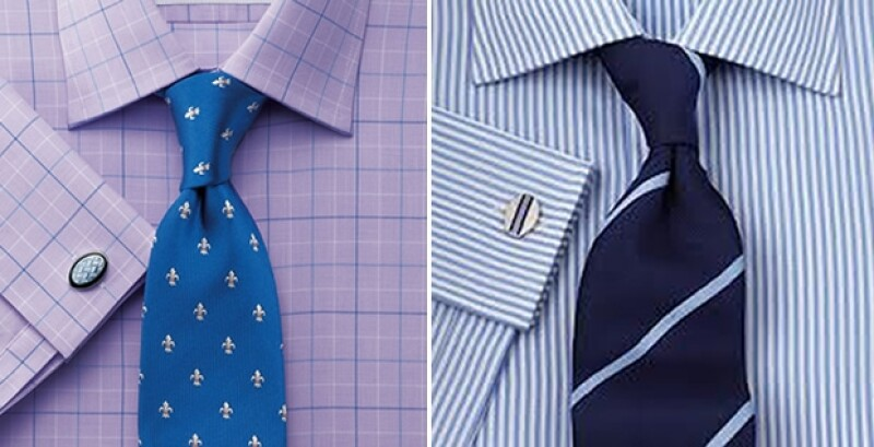 Es importante que no vayas a combinar dos patrones muy llamativos, usualmente si la camisa es lisa busca una corbata con detalles en ese color.