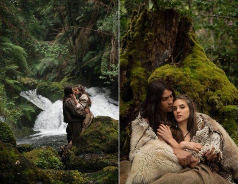 Macarena filmó en grandes paisajes que enmarcan su romance en la historia.