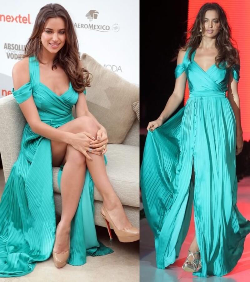 Siempre con su mejor sonrisa y actitud, la modelo rusa convivió con los mexicanos este fin de semana. Así fue como la vimos durante el fashion show.
