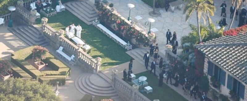La ceremonia se realizó en la misma residencia donde se iba a casar J.Lo y Ben Affleck.