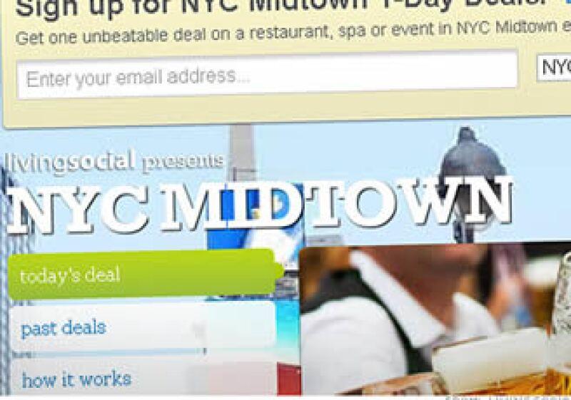LivingSocial ganó 13 millones de dólares en ventas en un solo día, un récord para el sitio. (Foto: CNNMoney.com)