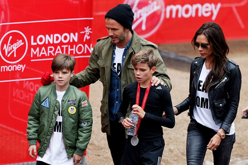 Aunque es el más joven de los hombres Beckham, Cruz ya cumplió 11 años.