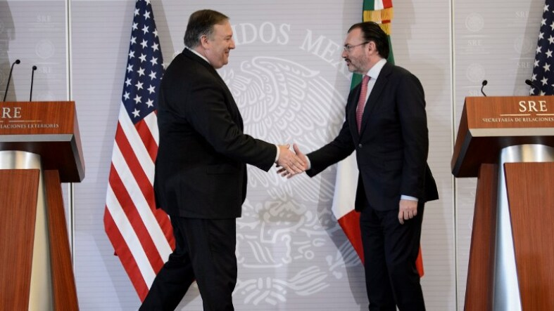 Mike Pompeo y Luis Videgaray