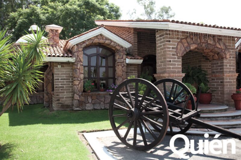 Esta es una de las cabañas para huespedes que hay en el rancho.