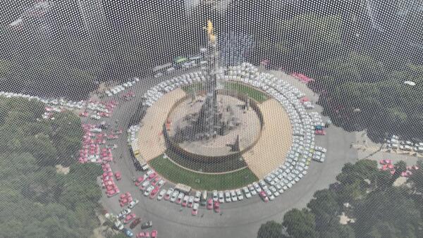 Taxistas desde el aire