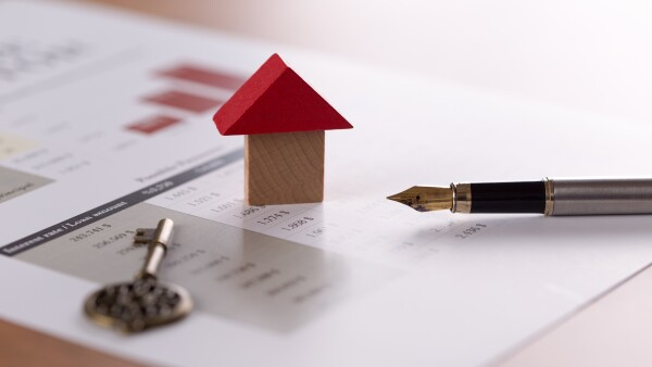 Concept of real estate, mortgage and lease