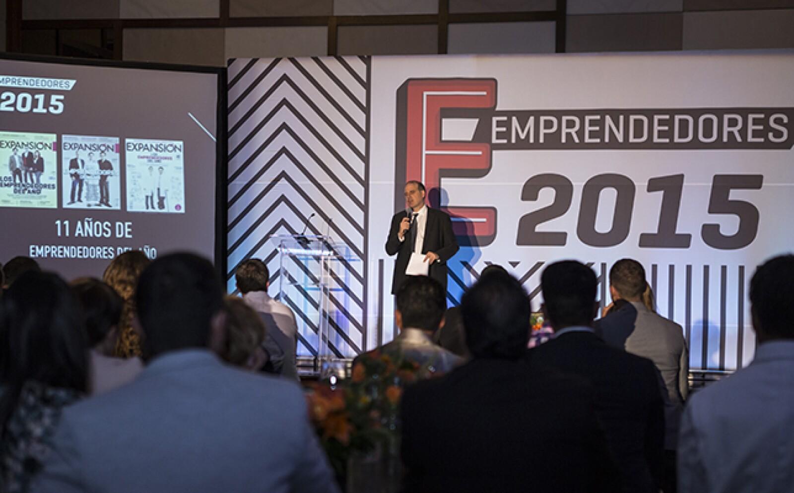 """""""Los emprendedores mexicanos merecen una portada"""", afirmó el director editorial de Negocios en Grupo Expansión, Alberto Bello."""