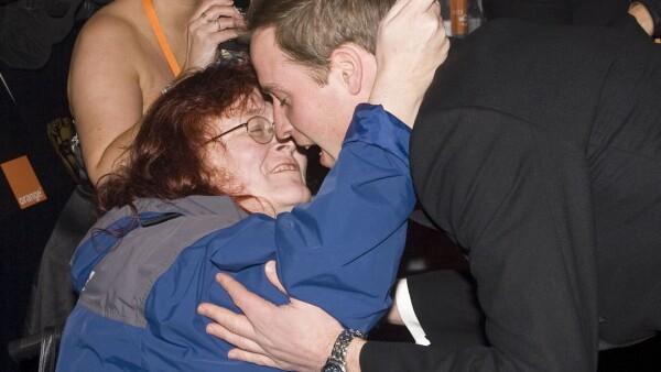 Principe William beso de fan