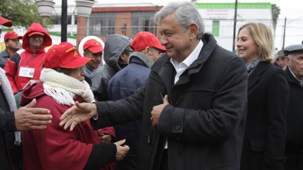 Lopez Obrador en Nuevo Leon