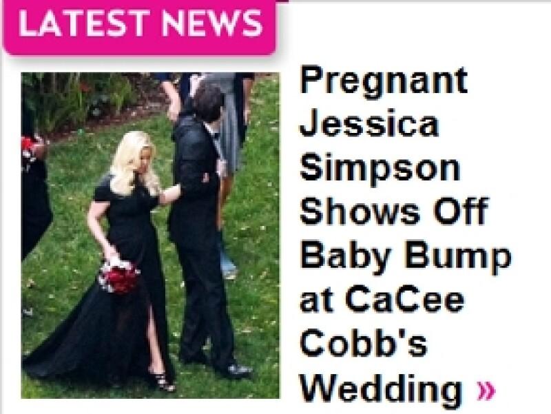 Así lució Jessica durante la boda.