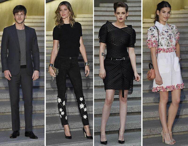 Algunos de los invitados VIP del desfile fueron:  Gaspard Ulliel, Gisele Bündchen, Kristen Stewart, y Alma Jodorowsky.
