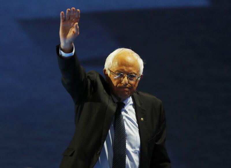 Bernie Sanders en la Covención Demócrata