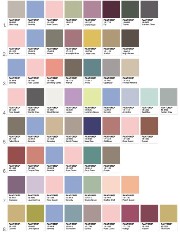 Combinaciones que pueden funcionar con los colores del año.