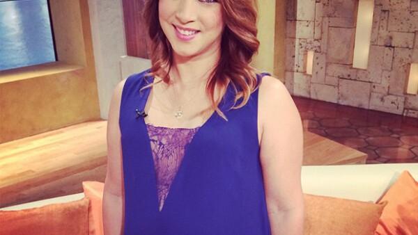 La actriz y conductora de televisión difundió la buena noticia esta mañana por medio de su cuenta de Facebook.