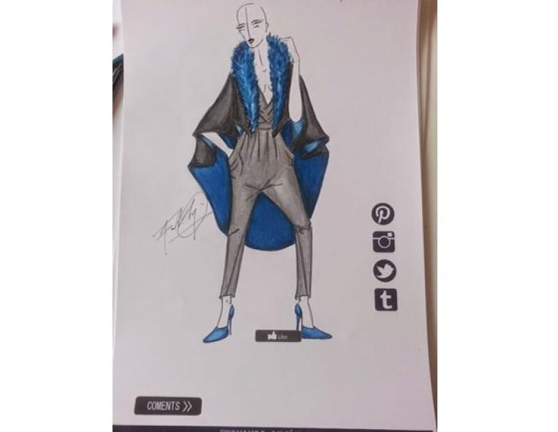 El diseño de Fernando se basó en un jumpsuit drapeado.