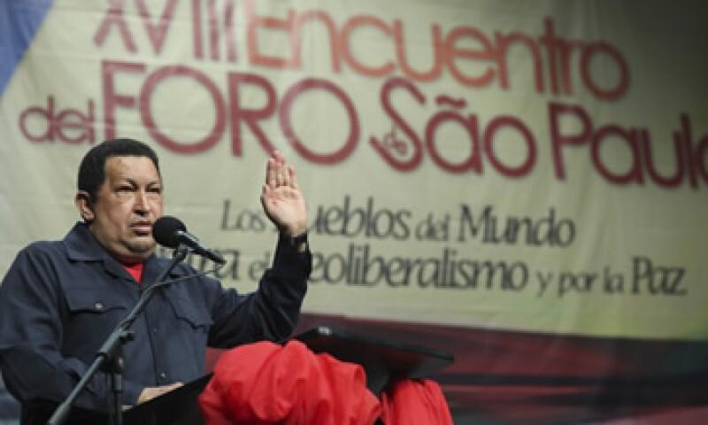 El presidente Chávez no dejó pasar la oportunidad para promover a la Celac. (Foto: Reuters)
