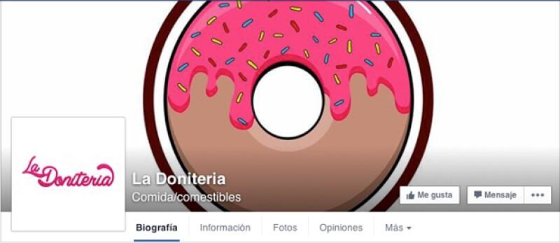 Así se ve la página de Facebook de la empresa de Alejandro Fernández Jr.