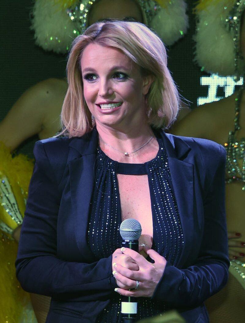 Britney Spears lucía así, el 5 de noviembre, en un evento para celebrar su show en Las Vegas.