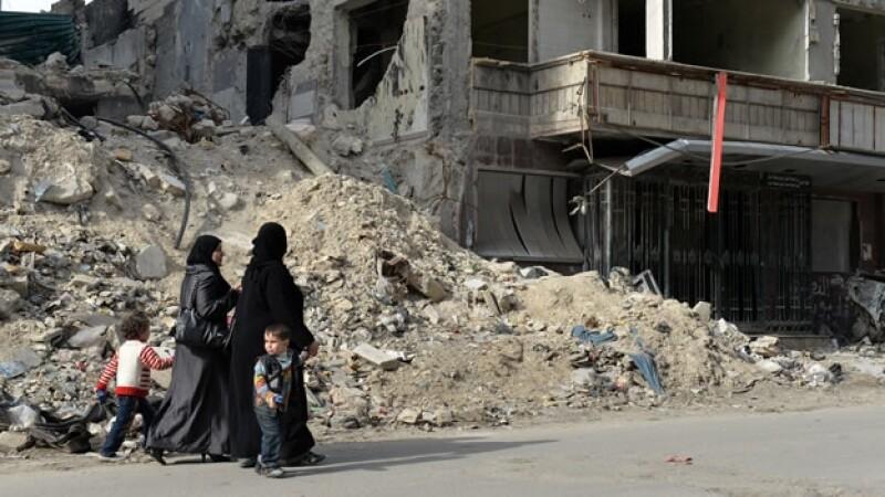 Poblacion civil en Siria