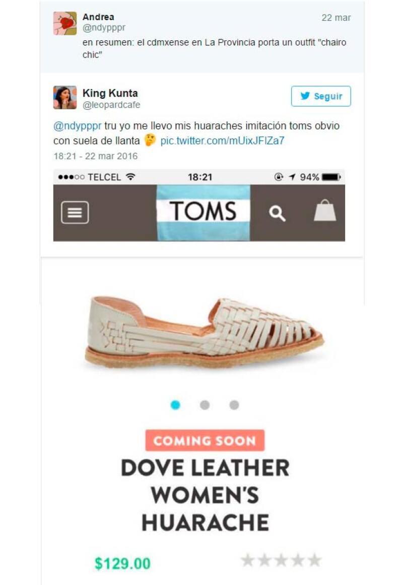 cfd1465cd0d0 Estos fueron algunos de los tuits que publicaron en referencia al precio  elevado de Toms por