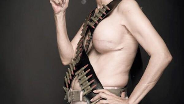 Para una campaña en el marco de Octubre Rosa, la actriz decidió mostrar su cuerpo como ejemplo de lucha contra esta enfermedad.