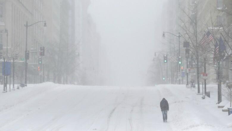 En algunas zonas, este sábado se registraron hasta 58 centímetros de nieve acumulada