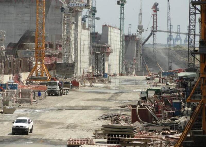 Obras de ampliaci�n del Canal de Panam�