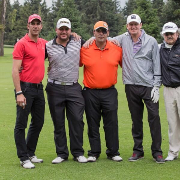 Luis Felipe Mata, Luis Miguel Zubieta, Fernando Santibañez, Giorgio Parolini y Óscar Álvarez