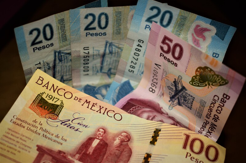 Mexican pesos (notes) III
