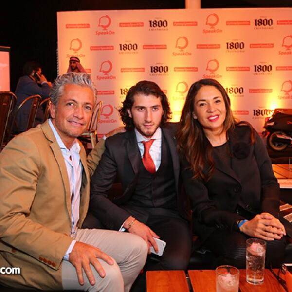 Arturo Velasco,Carlos Gotlib y Yolanda Andrade