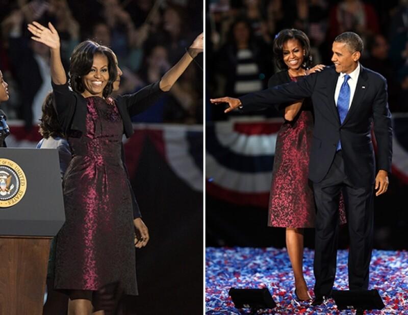 La mujer que será Primera Dama de Estados Unidos por cuatro años más, eligió un vestido diseñado por Michael Kors para escuchar el resultado de las elecciones. ¿Lo mejor? Ya lo había usado antes.