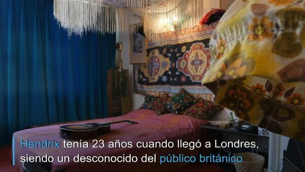 Un vistazo al refugio de Jimi Hendrix en Londres