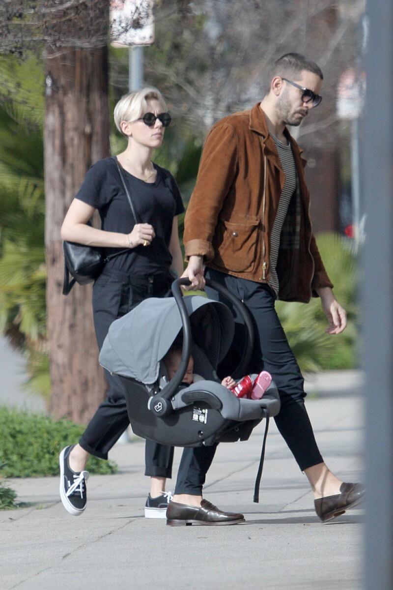 Scarlet y Romain se casaron el pasado 1º de octubre en Estados Unidos, a solo un mes de que la actriz se convirtiera en mamá.