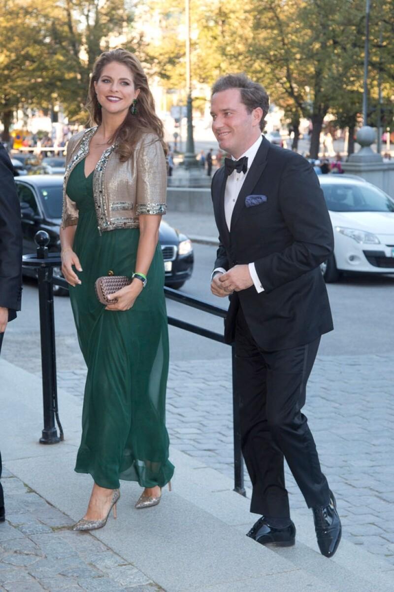 A dos semanas de que se anunciara su embarazo. la princesa lució su pequeña pancita durante los festejos por los 40 años en el trono de su padre, el rey Carlos Gustavo.