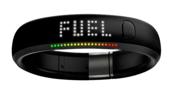 Pulsera `FUEL´de Nike para contar pasos, calorías y todo lo necesario en las rutinas de ejercicio.