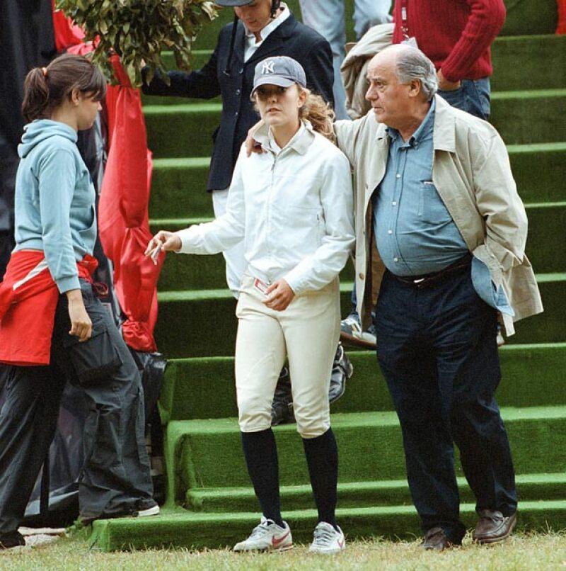 Amancio Ortega con su hija Marta.