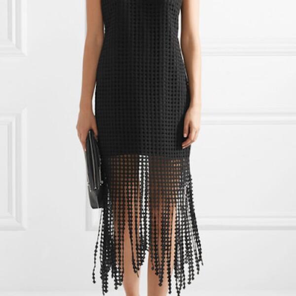 GOEN J Fringed macramé cotton midi dress