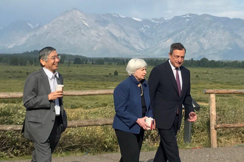 yellen draghi kuroda bancos centrales
